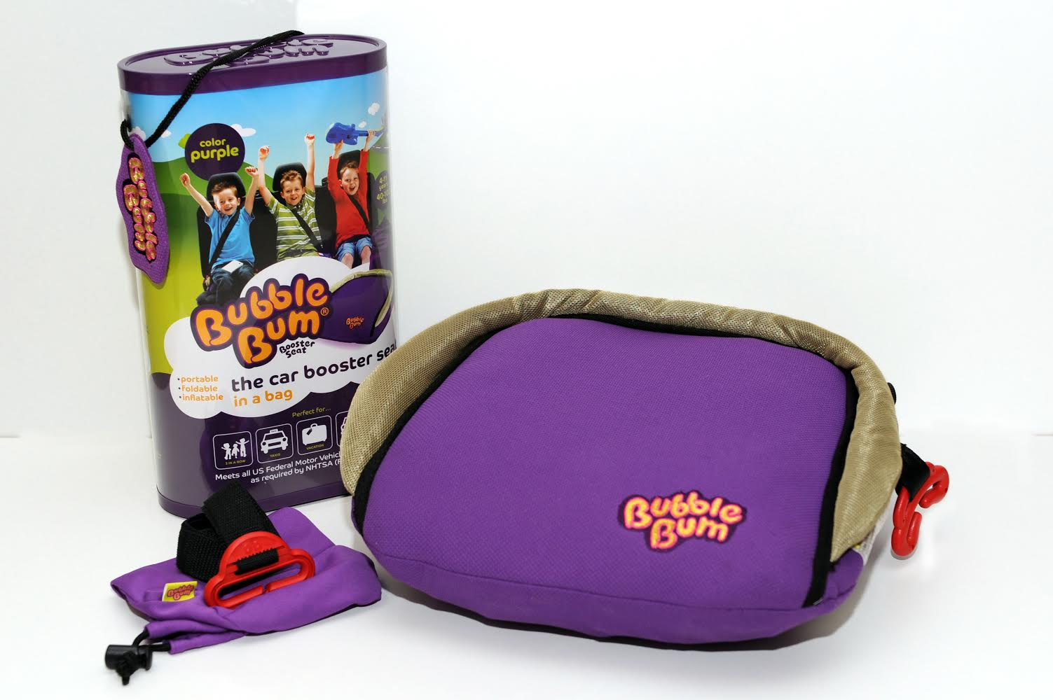 Bubblebum inflatable car booster seat, $29.99 @bubblebum.co