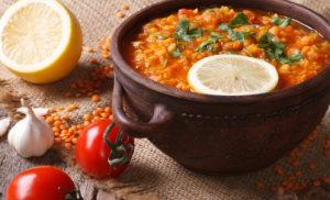 Slow Cooked Red Lentil & Chickpea Curry