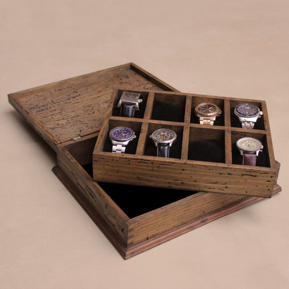 Made to Order Wood Watch Box, $119