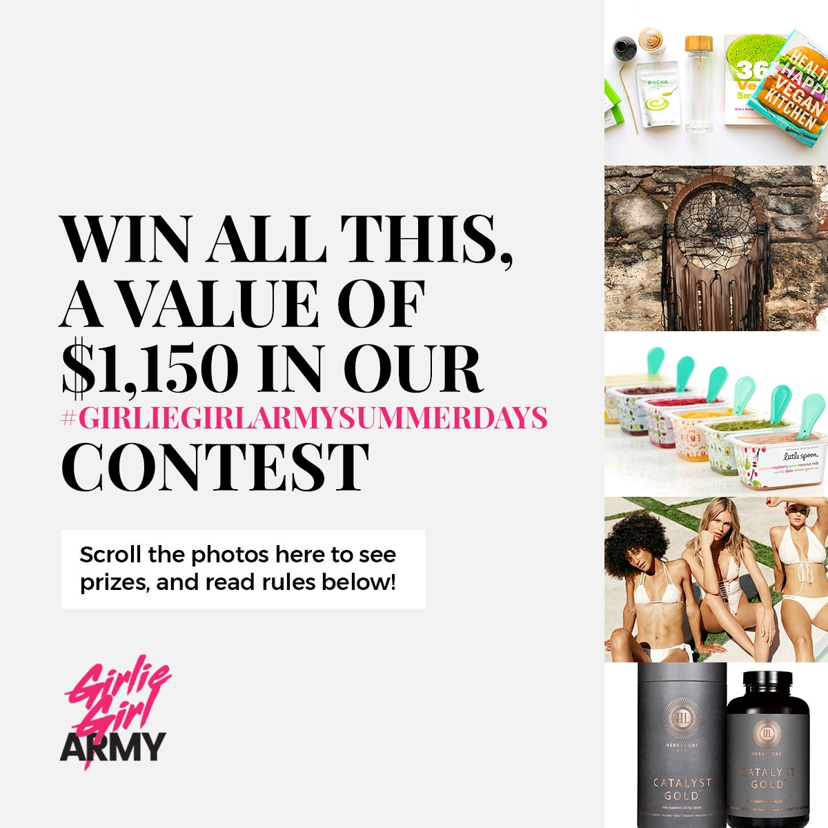 Win Over $1,150 Worth Of Incredible Prizes In Our GirlieGirl Army Summer Days Contest