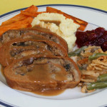 Roasted Wheat-Meat with Oyster Mushroom & Sausage Stuffing