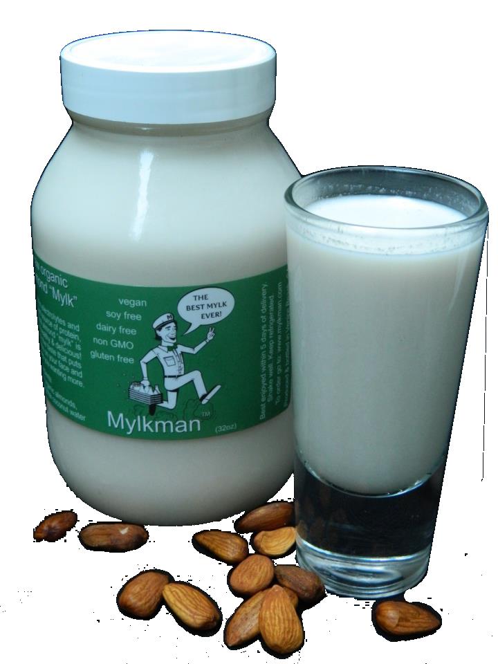 Fresh organic almond mylk delivered to your door (next level delicious!)