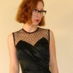 Vintage Black Cocktail Dress Sweetheart Mesh Netting, $23 @etsy.com