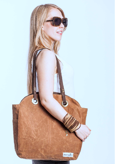 Port Cities Tote, Whiskey/Chocolate Reversible, $250.00 @pansymaiden.com