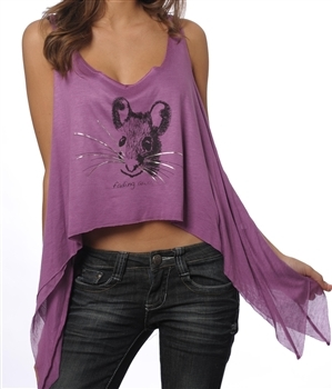 Purple mouse tee, $17 @revengeis.com