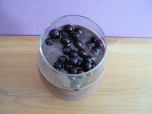 Wild Blueberry Avocado Energy Smoothie 016