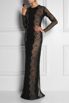 Stella McCartney Lace-paneled stretch-crepe dress, $5,765 @netaporter.com
