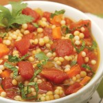 Mayim Bialik's Tomato Soup with Israeli Couscous
