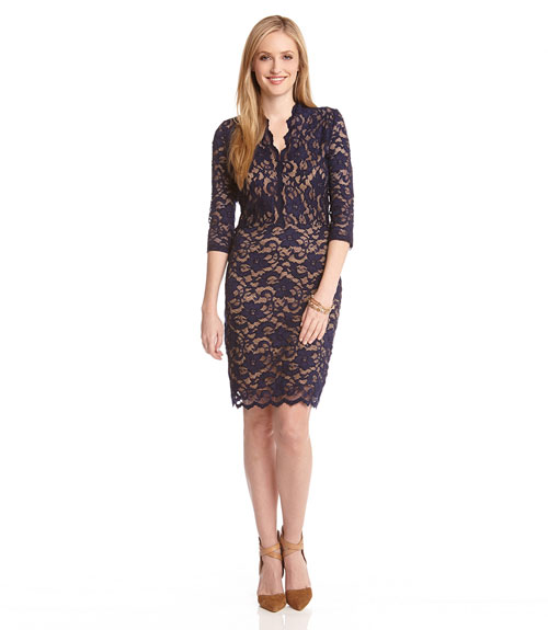 Vneck lace dress, $118 @karenkane.com