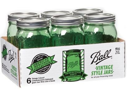 Ball® Heritage Collection Spring Green Pint Jars  , $16 for 6 @freshpreservingstore.com