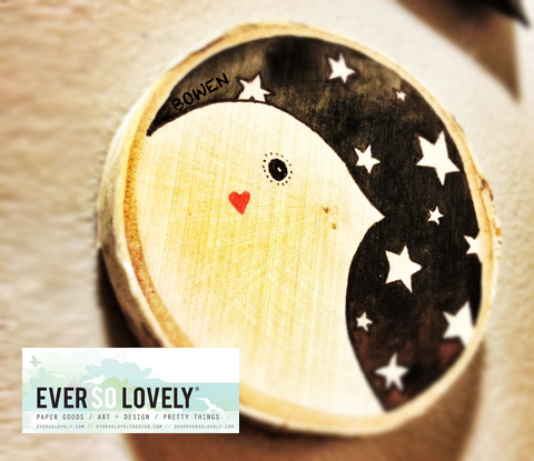 Starry Night Lovebird Painting, $35 @shopeversolovely.com