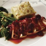 Vegan Holiday Cooking: Braised Cranberry-Orange Tofu