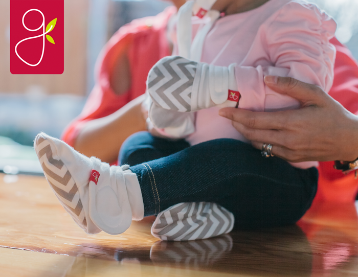 We have news for you: you will never know where that other sock/shoe/bootie went. Which is another reason why we love Goumikids! They've taken their smart design and applied it to baby soft booties that won't fall off. Baby's toes will stay toasty, and your diaper bag will remain rummage-free.