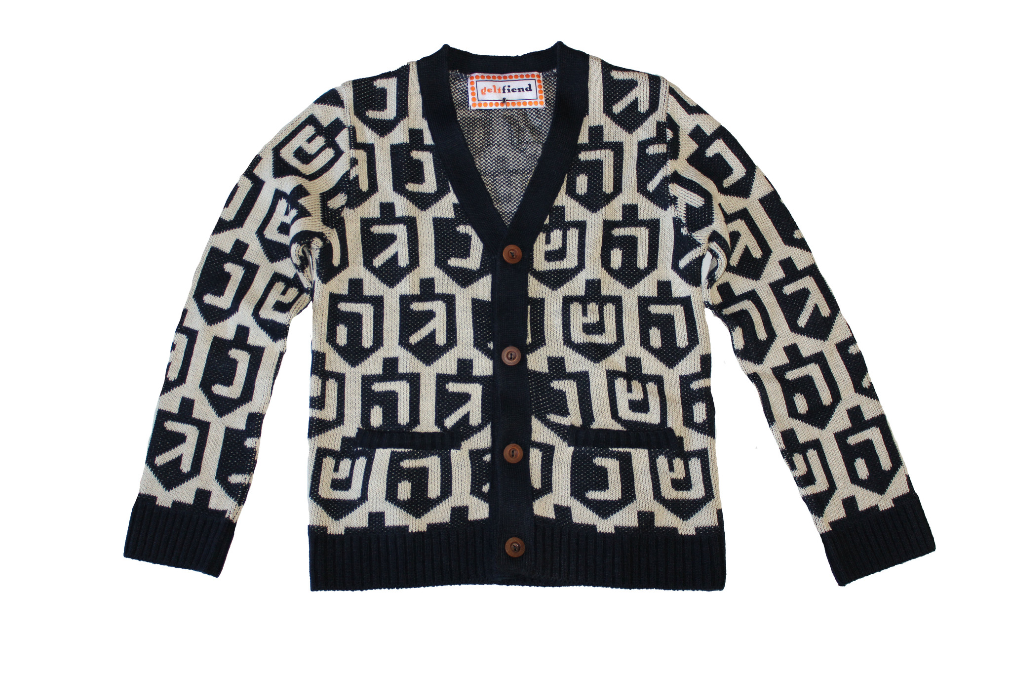 Little Yids! Spinmaster 2.0 Chanukah Sweater in Navy, $22 @geltfiend.com
