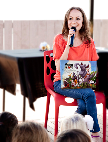 Vegan Author Ruby Roth With Her Childrens Books