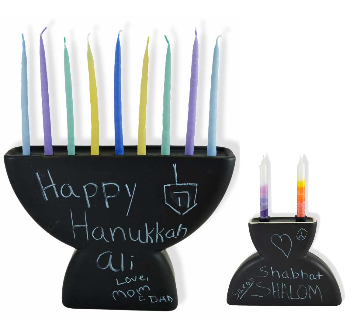 Chalkboard Menorah, $19 @traditionsjewishgifts.com