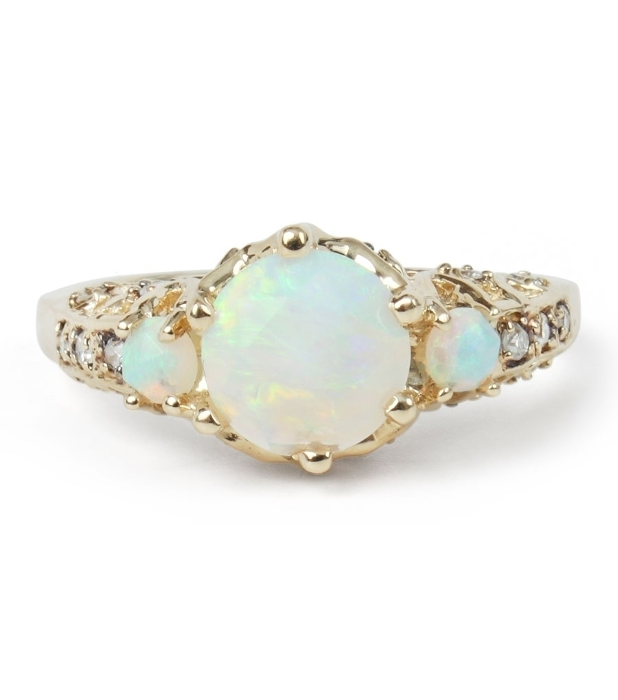 Maniamania Ceremonial Ring, Opal & Conflict-Free Diamonds, $2900 @catbirdnyc.com