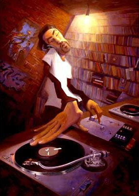 "Justin Bua's legendary ""The DJ"""