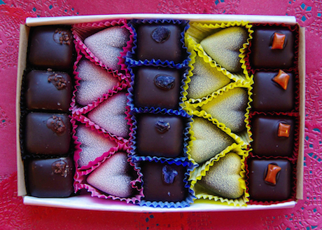 February: Box of Hearts (one 22-pc box), $40 @lagustasluscious.com