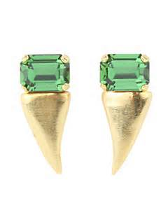 Michael Spirito Stoned Fang Earrings ,$140 @stanleykorshak.com