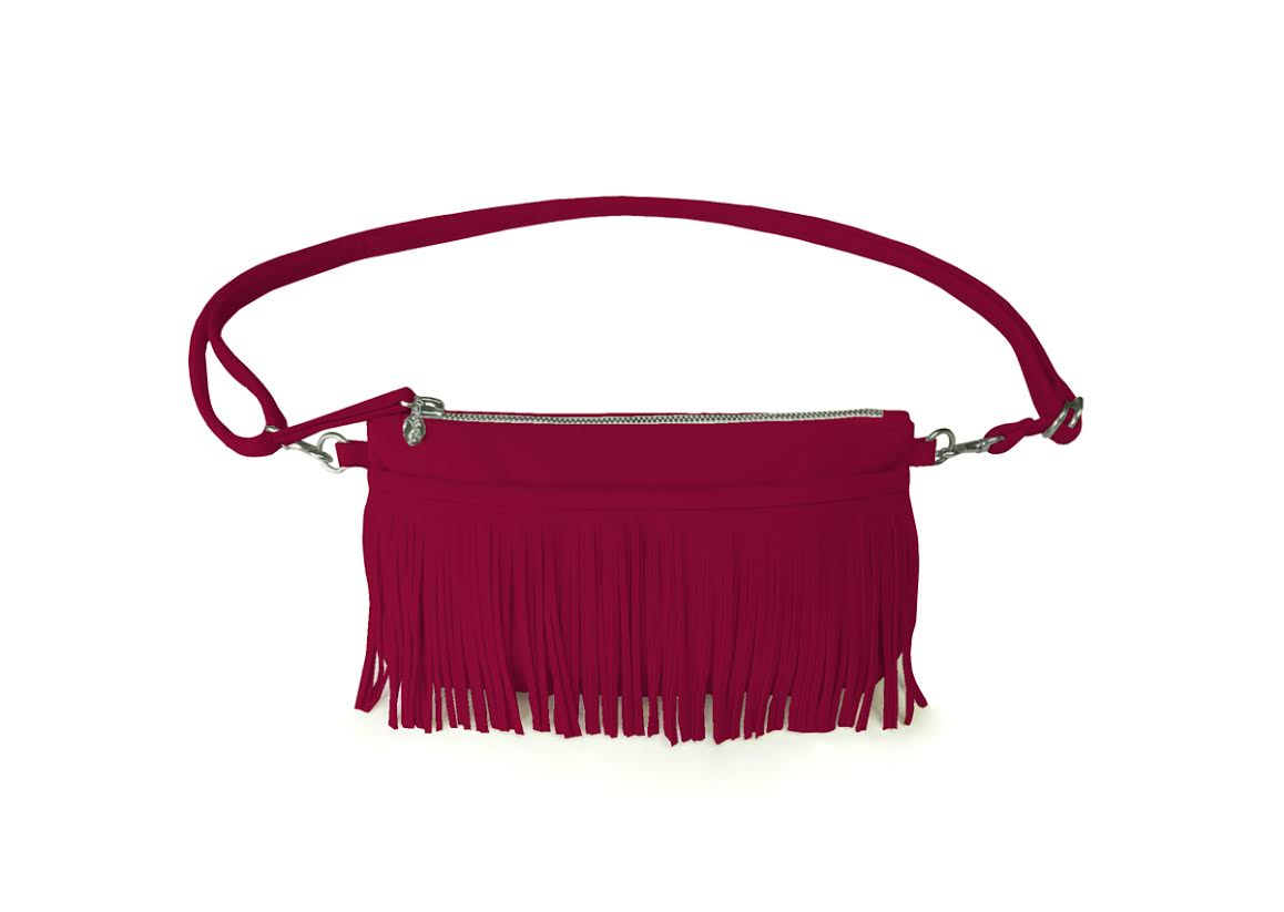 Hipster For Sisters Fringe Belt Bag in Mulberry, $145 @hipstersforsisters.com