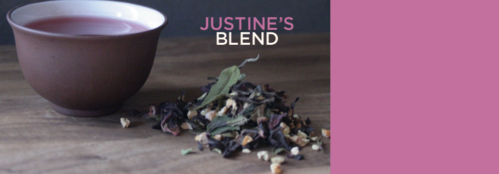 Numi Organic's Justine's Blend:  smooth white tea, zesty ginger, tart hibiscus, orange peel and licorice