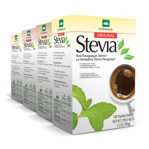 Stevia now in Mocha, Vanilla, PassionFruit, and Banana!
