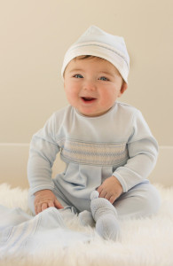 Pima Cotton Smocked Diamond Romper, $61.50 @feltmanbrothers.com