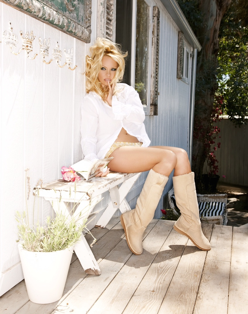Pamela Anderson Launches Vegan Boot Line