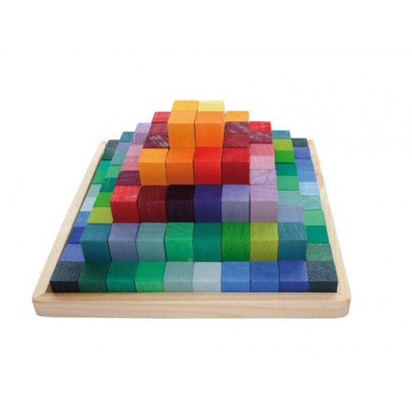 Grimms 100 rainbow-colored wooden blocks, $62.99