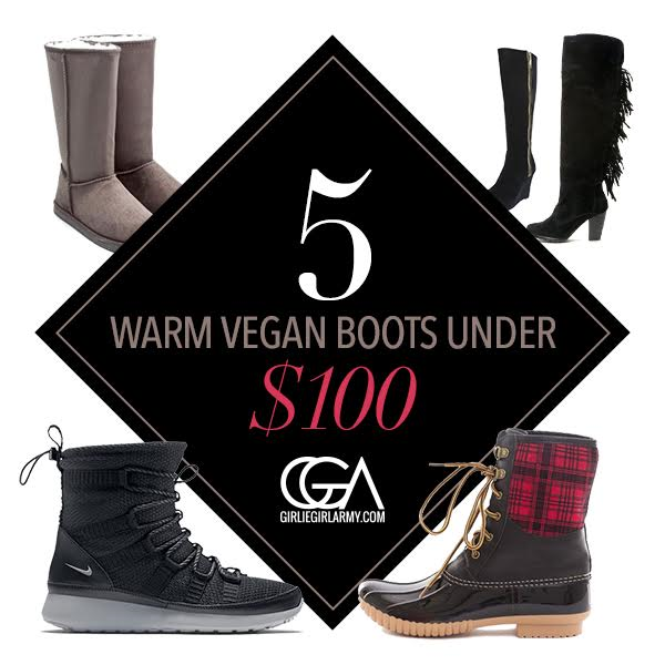 5 Warm And Cute Vegan Boots Under $100