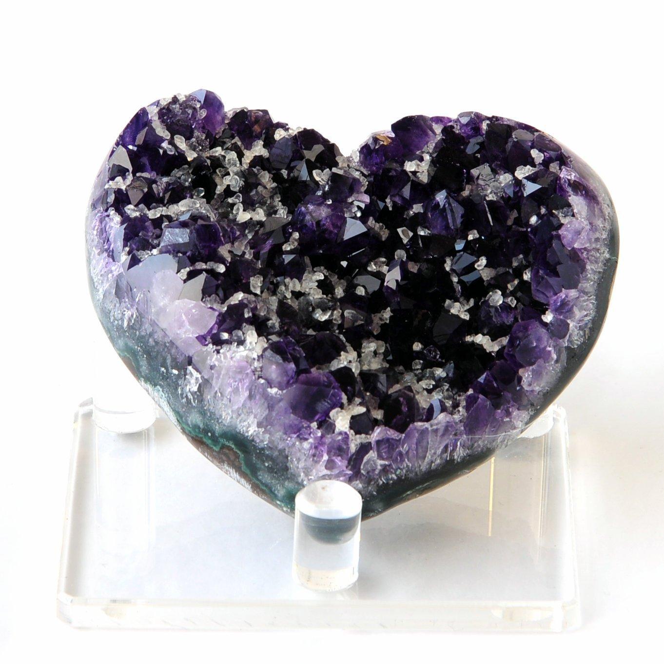 Amethyst Cluster Druzy Heart, $24-289, depending on size