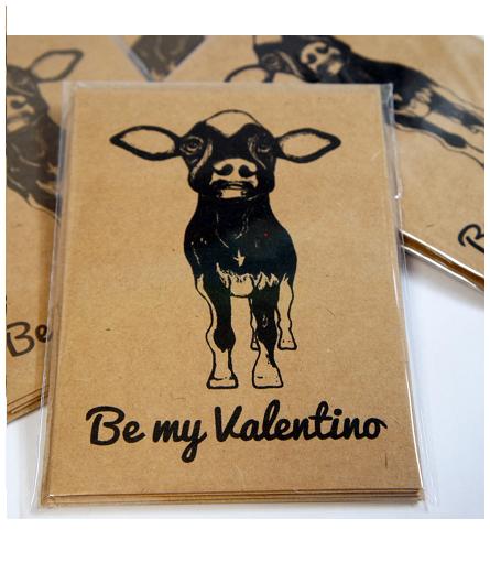 Be My Valentino Card (Benefitting Farm Sanctuary), $10