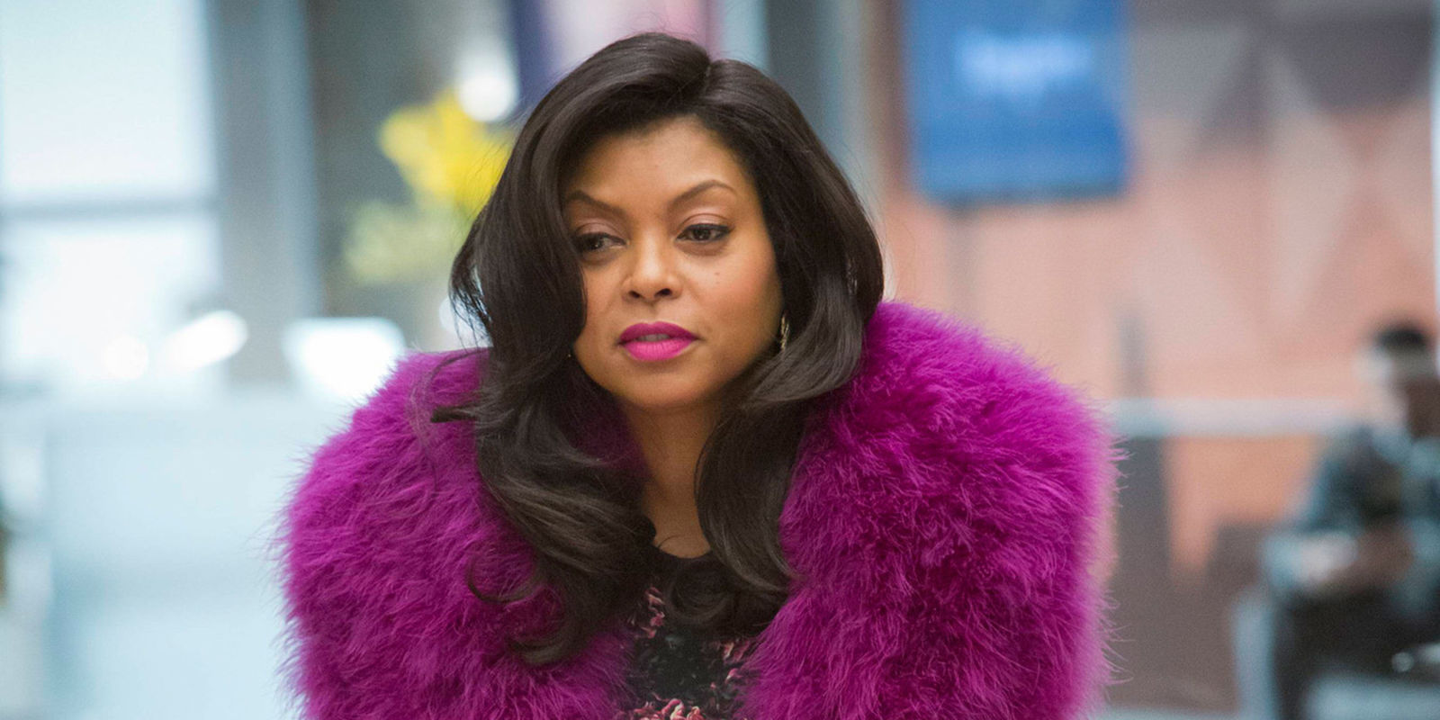 Cookie in dead animals on the set of Empire