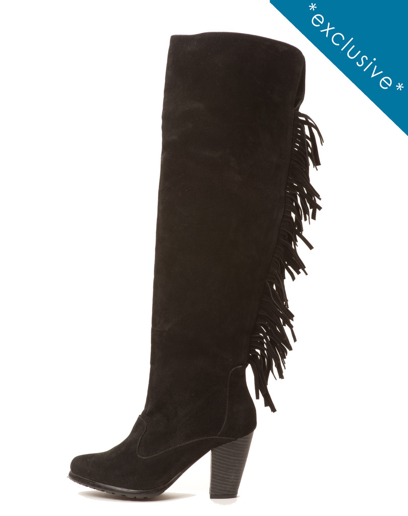 Cri De Coeur Nora Fringe Boot, $50