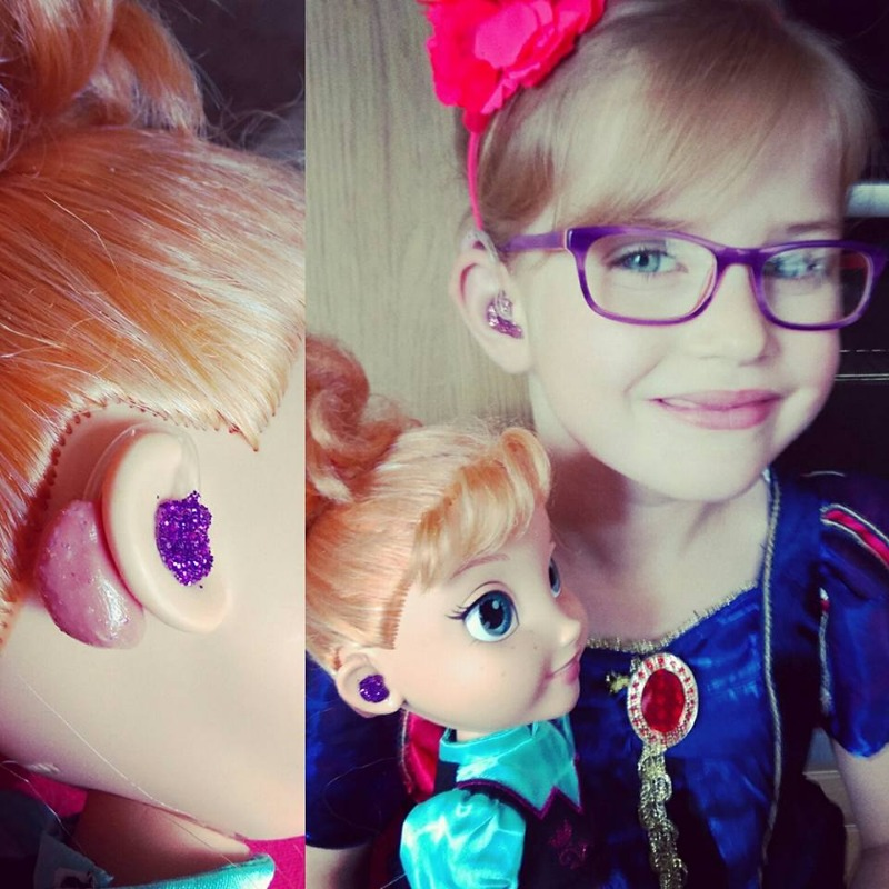 Hearing Aid Customized Doll via ToysLikeMe