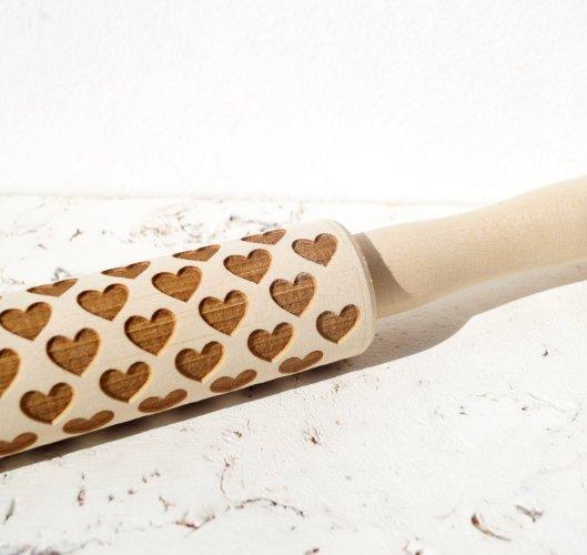 Heart Shaped Handmade Rolling Pin, $26