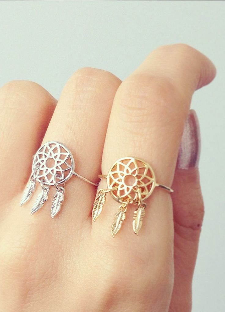 Lulu's Dreamcatcher Rings, $12