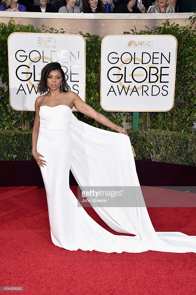 Taraji P Henson attends the 73rd Annual Golden Globe Awards held at the Beverly Hilton Hotel on January 10, 2016 in Beverly Hills, California. Image via Getty Images