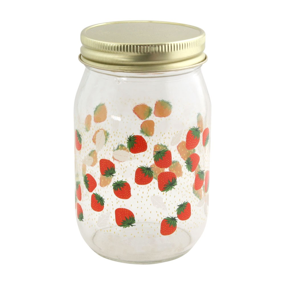 Oldham + Harper Strawberry Drinking Jar, $9