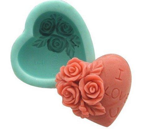 Silicone Heart Shape Soap Mould, $5.98