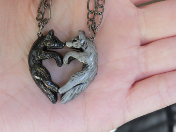 Wolf Love Necklace, $37