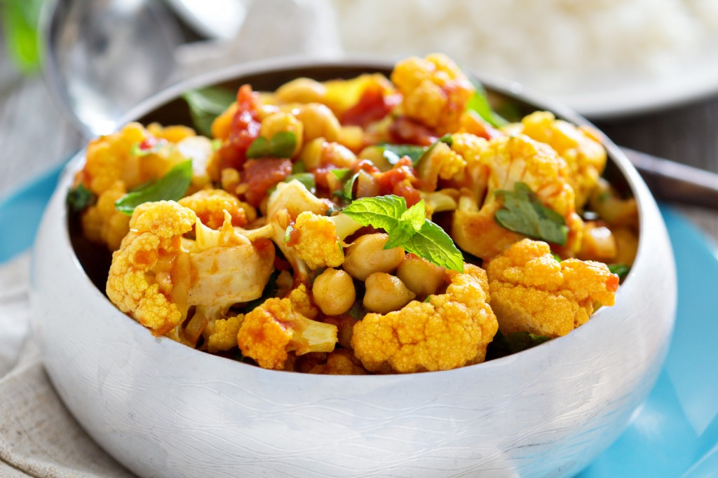 Vegetable & Chickpea Curry in Coconut Milk