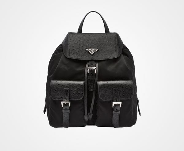 Prada Ostrich Backpack, $3,710