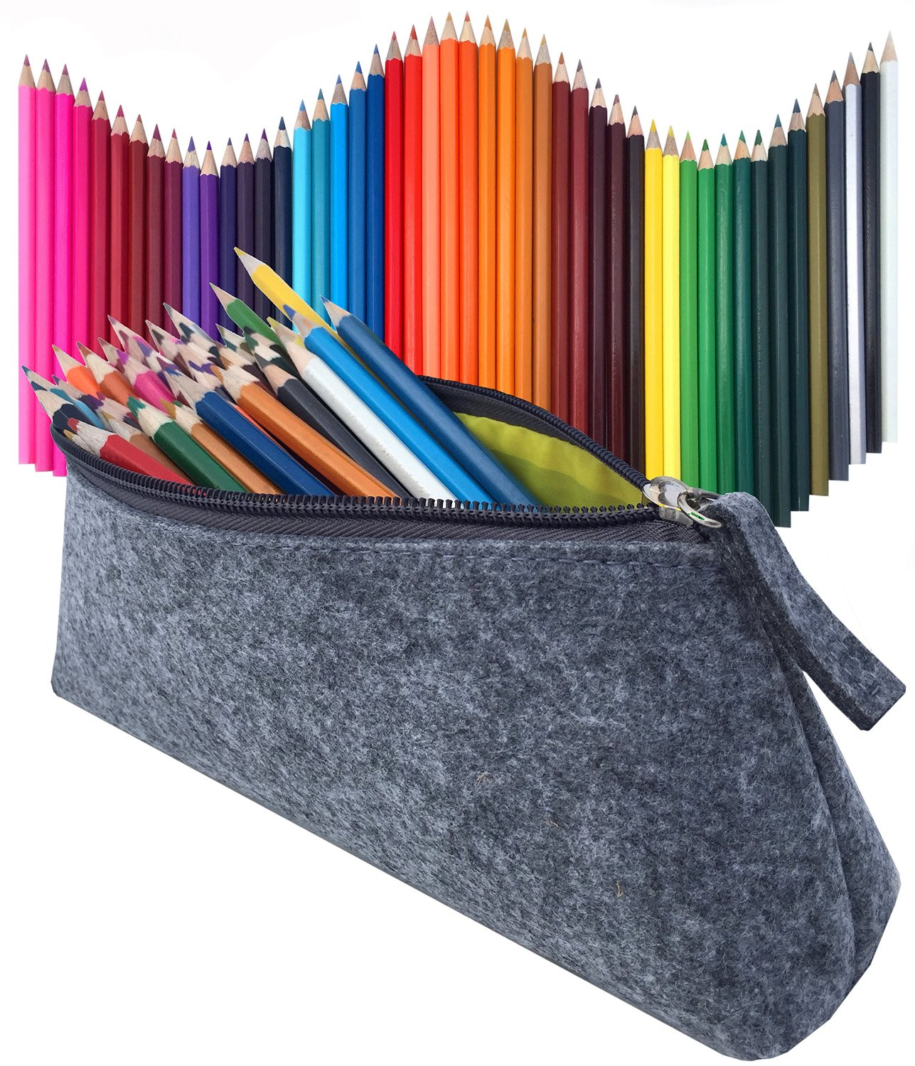 48 Colored Pencil Set & Durable Pencil Case, Non-Toxic Sketching Drawing Pencils