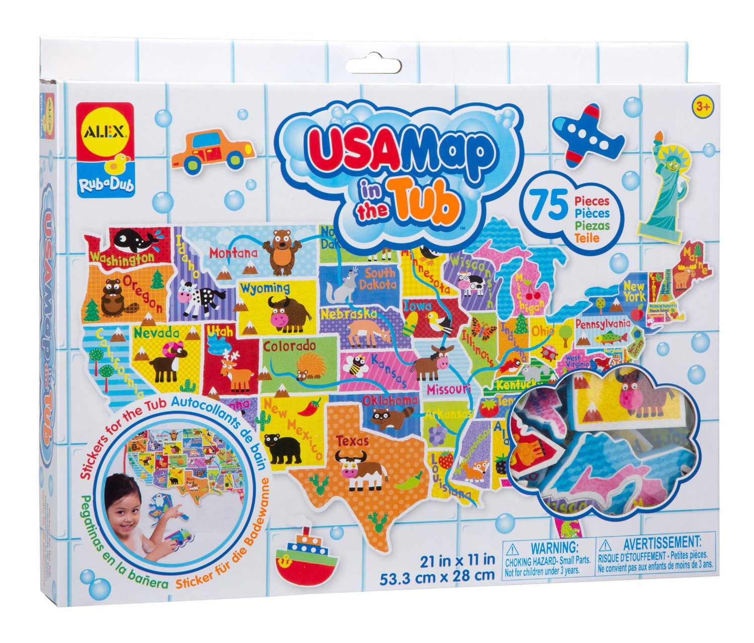 USA Map In The Tub