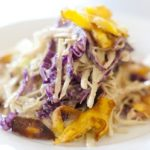 Jerk-Coleslaw With Plantain Chips glutenfree/ vegan