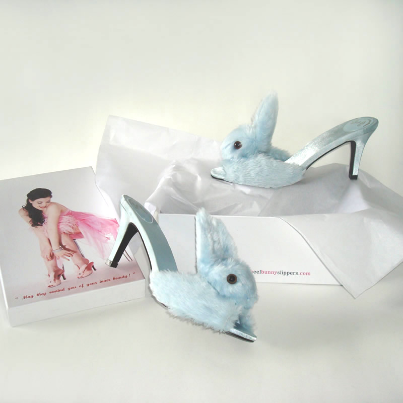 Streetzie's High Heeled Bunny SlippersBlue