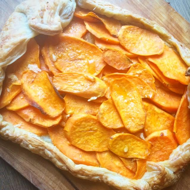 Rustic Sweet Potato & Maple Galette