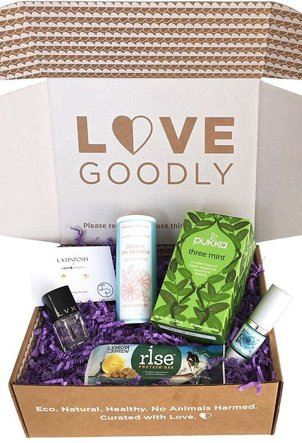 All natural, vegan beauty iems in Love Goodly boxes!